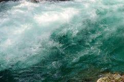 Nature autumn landscape. Waterfall at Soteska Vintgar Slovenia. Stock Photo
