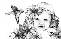 Nature Baby Royalty Free Stock Images