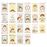 Nature Baby girl milestone card. Set Royalty Free Stock Photography