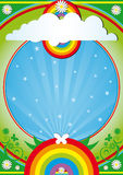 Nature background. A nature background for a party stock illustration