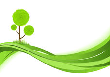 Nature background. Abstract green illustration with copyspase Vector Illustration