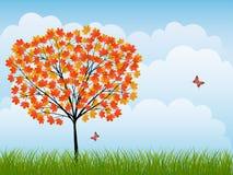 Nature background. With a autumn landscape. Vector illustration vector illustration