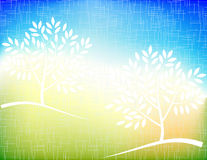 Nature background. Vector of grunge nature background with trees royalty free illustration