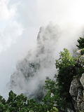 Ai-Petri mountain in a cloud of smoke Stock Photo