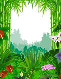 Nature background with bamboo tree. Illustration of nature background with bamboo tree Stock Image