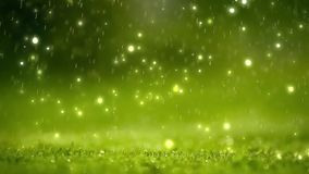 Nature background. Beautiful Blurred abstract bokeh with rain drop on grass. Sunlight. Sunflare. Slow motion stock video