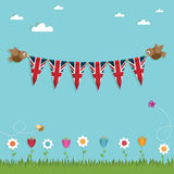 Uk bunting Royalty Free Stock Photo