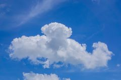 Blue sky with cloud in the daytime Royalty Free Stock Photography