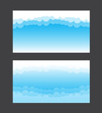 Nature background blue sky and cloud element vector illustration Royalty Free Stock Photo