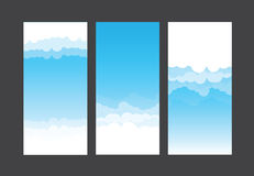Nature background blue sky and cloud element vector illustration. Eps10 Stock Photo