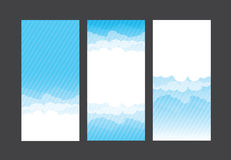 Nature background blue sky and cloud element vector illustration. Eps10 Royalty Free Stock Image