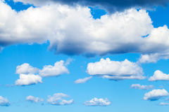 Nature background, blue sky and white clouds. Nature background photo, blue sky and white clouds Stock Image