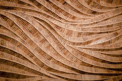 Nature background of brown handicraft weave texture bamboo surfa Stock Photography