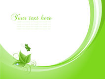 Nature background with butterfly. Nature themed background with butterfly vector illustration