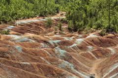 Nature background of Cheltenham Badlands in Caledon,Ontario Royalty Free Stock Images