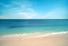 Nature background, clear water and blue cloudy sky pastel colors Royalty Free Stock Photography