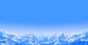 Nature background with clouds in the blue sky Stock Photography