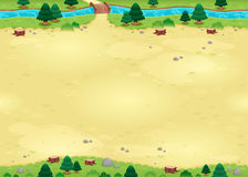 Nature background for games with endless sides. royalty free illustration