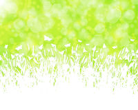 Nature background with grass silhouette vector Royalty Free Stock Photos