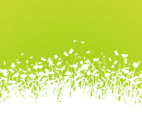 Nature background with grass silhouette vector Stock Photos