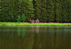 Nature background houses Royalty Free Stock Images