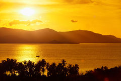 Nature Background. Landscape Of Tropical Island Sunset. Thailand Stock Images
