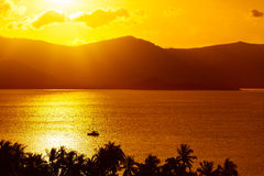 Nature Background. Landscape Of Tropical Island Sunset. Thailand Stock Photo