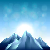 Nature background with mountains vector Royalty Free Stock Images