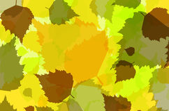 Nature background of multicolored abstract leaves Royalty Free Stock Photo