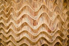 Nature Background Of Brown Handicraft Weave Texture Bamboo Surface Royalty Free Stock Images