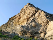 Peaked mountain in Crimea Stock Image