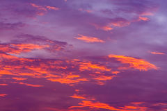 Nature background. Red sky at night and clouds. Beautiful and co Royalty Free Stock Photos