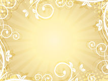 Nature background with spiral frame and stripe for your text. Royalty Free Stock Photo
