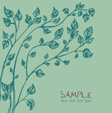 Nature background. Template with doodle tree drawing Royalty Free Stock Photos