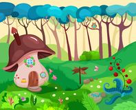 Nature background. Vector Illustration of a nature background royalty free illustration