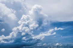 Nature Background, White Clouds in the Blue Sky.  stock photos