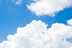 Nature background. white clouds over blue sky soft focus. Stock Images