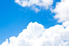 Nature background. white clouds over blue sky soft focus. White clouds Stock Images