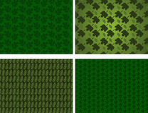 Nature backgrounds. 4 different nature background illustrations with leaves Stock Photo
