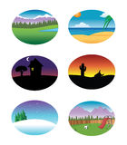 Nature backgrounds collection Royalty Free Stock Photos