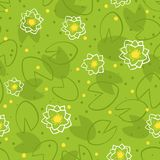 Water lily pattern Royalty Free Stock Images