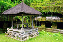 Balinese architecture in the forest Royalty Free Stock Photo