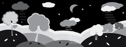Nature banner , night. Stock Photo