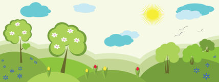 Nature banner , spring royalty free illustration