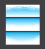 Nature banner template blue sky and cloud element vector illustr Stock Photos