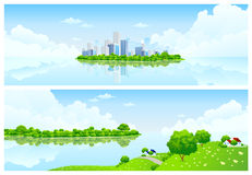 Nature banners stock photography