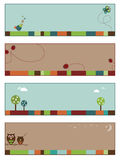 Nature banners set 1. Set of nature banners with copy space, set 1 Stock Photography