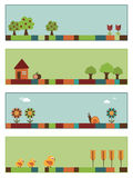 Nature banners set 3. Set of nature banners with copy space, set 3 Royalty Free Stock Photography
