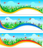 Nature banners set Stock Images