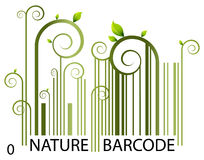 Nature Barcode. An image of a nature barcode Royalty Free Stock Image